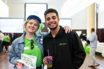 2 young people celebrating headspace