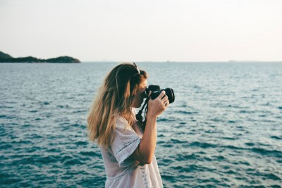 Photographer at sea.